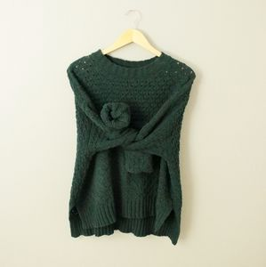 Oversize Chunky Forest Green Sweater